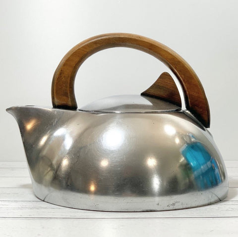 Picquot Ware Vintage Tea Kettle Newmaid British Retro Modernist Mens Fathers Day Gifts Presents English
