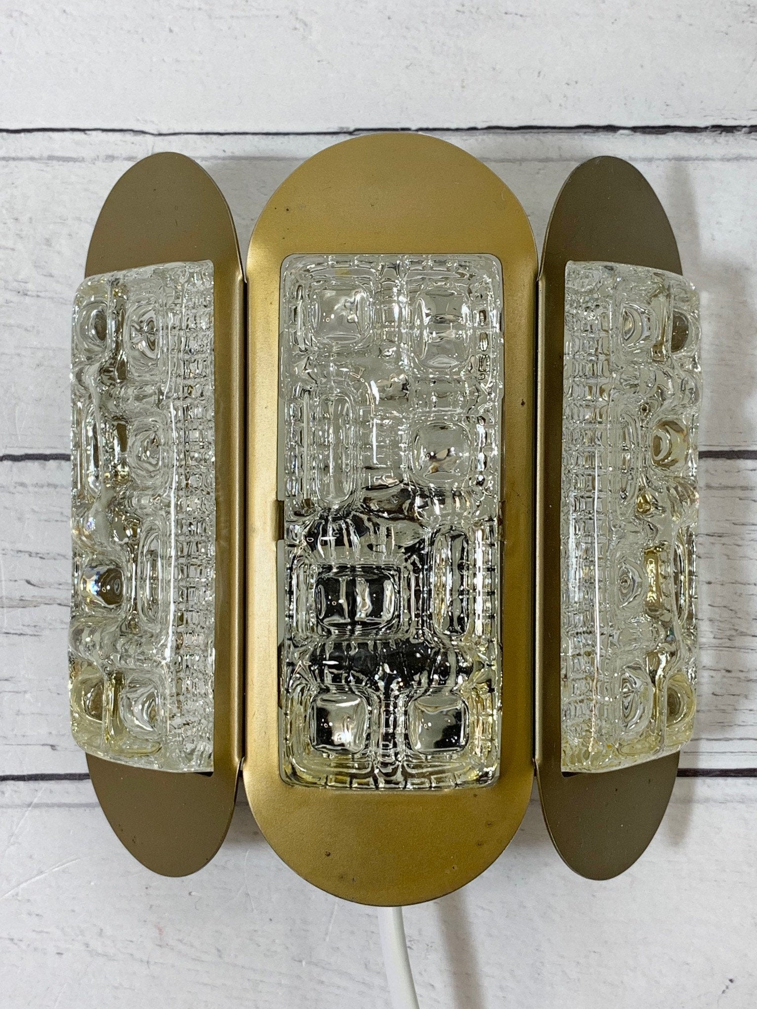 Lyskaer Belysning Danish Sconce Wall Lamp Swedish Glass Art Deco Style Retro