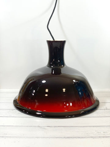 Holmegaard Danish Kantate Glass Pendant Lamp Ceiling Light 1970s Retro Scandinavian Scandi Design Hygge Style