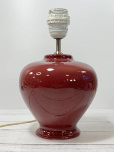 Lene Bjerre Danish Burgundy Red Pottery Ceramic Table Lamp