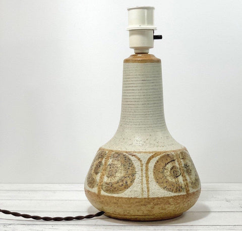 Soholm Pottery Danish Beige Ceramic Table Lamp Erika 1960s Vintage Retro Scandinavian 3062