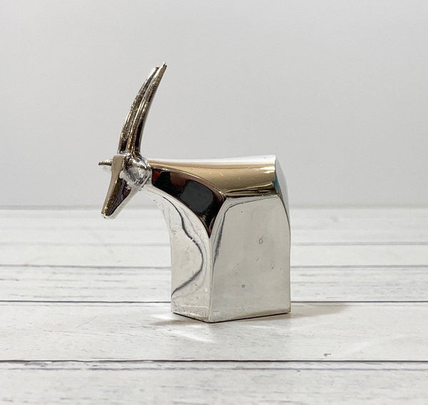Dansk Silver Antelope Gazelle Paperweight Danish Designs Gifts Men Dads Office Work Job Presents Retro