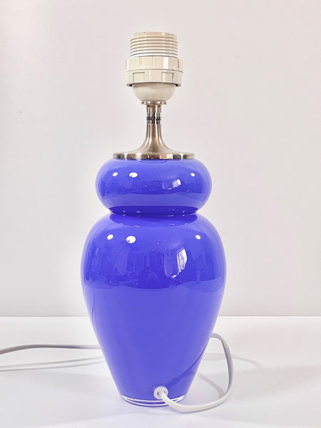 Royal Copenhagen Holmegaard Danish Blue Table Lamp Bedside Glass Vintage Retro - Scandiwegians