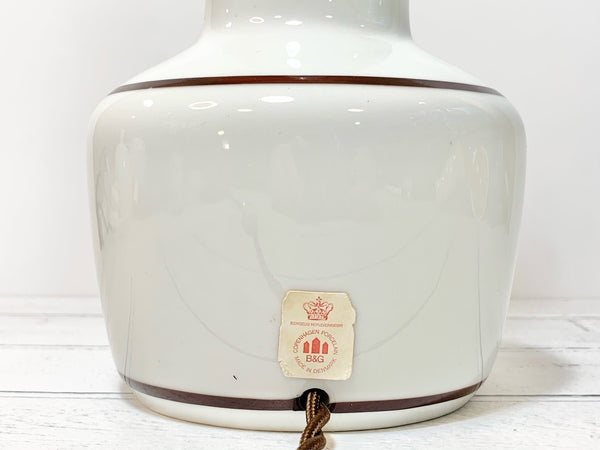 Bing & Grindahl Copenhagen Danish White Table Lamp Porcelain Vintage Scandinavian Lighting
