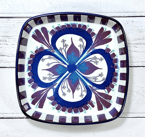 Royal Copenhagen Danish Ceramic Serving Dish Fajance Marianne Johnson Purple Scandinavian Pottery Vintage - Scandiwegians