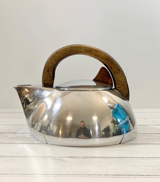 Picquot Ware Vintage Tea Kettle British Retro Modernist Mens Fathers Gifts Presents English