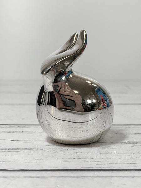 Dansk Silver Bunny Rabbit Paperweight Boxed Danish Designs Gifts Office Work Job Presents Retro