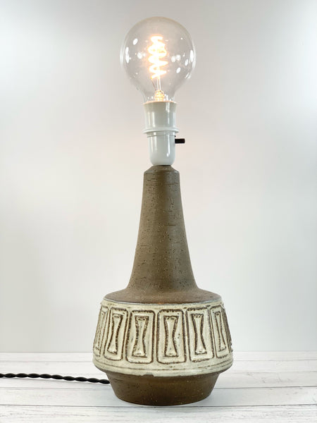 Michael Andersen Large Pottery Danish Ceramic Table Lamp 6252 Brutalist