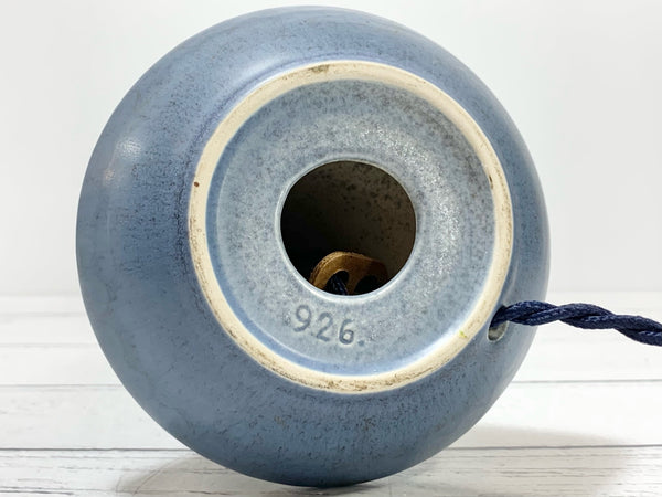 Vintage Soholm Pottery Blue Danish Ceramic Table Lamp Bedside Lighting Retro 926