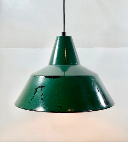 Louis Poulsen Danish Large 45cm Enamel Workshop Pendant Lamp Industrial Design