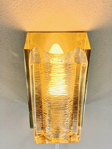 Vitrika Atlantic Danish Glass Sconce Wall Lamp Retro Vintage Lighting - Scandiwegians