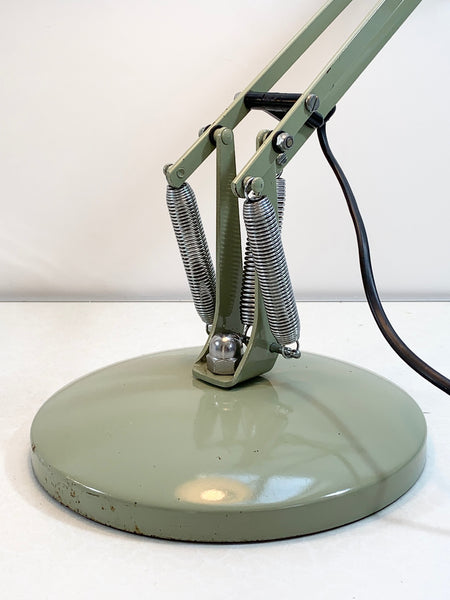 Anglepoise Green Model 90 Desk Lamp English British 1970s Retro Vintage