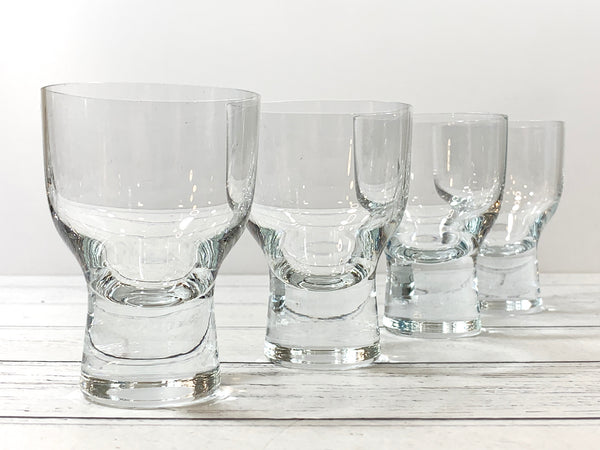 Holmegaard Canada Cocktail Glasses Danish 1950s Retro Scandinavian Vintage