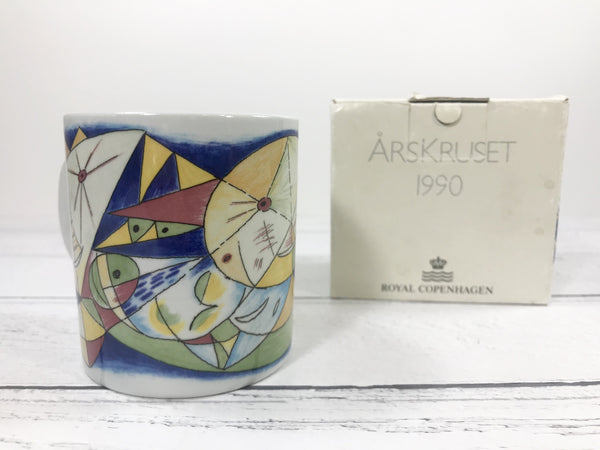 Royal Copenhagen 1990 Annual Year Mug Danish Scandinavian - Scandiwegians