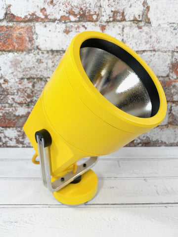 Louis Poulsen Danish Unispot Yellow Spotlight Ceiling / Industrial Wall Light - Scandiwegians