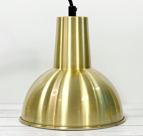 Danish Brass Gold Loft Style Pendant Lamp 1960s 1970s Retro Ceiling Light