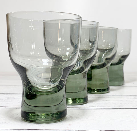 Holmegaard Canada Cocktail Glasses Smoked Danish 1950s Retro Scandinavian Vintage