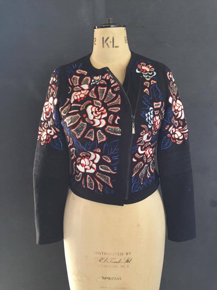Flower Embroidered jacket