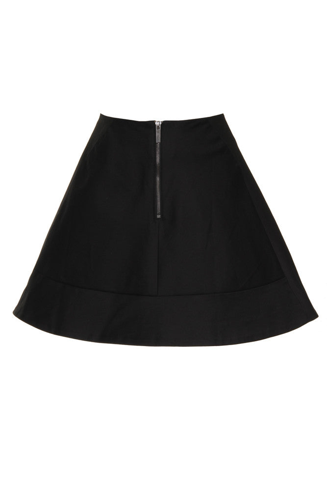 Black Statement A Line Mini Skirt SKT23