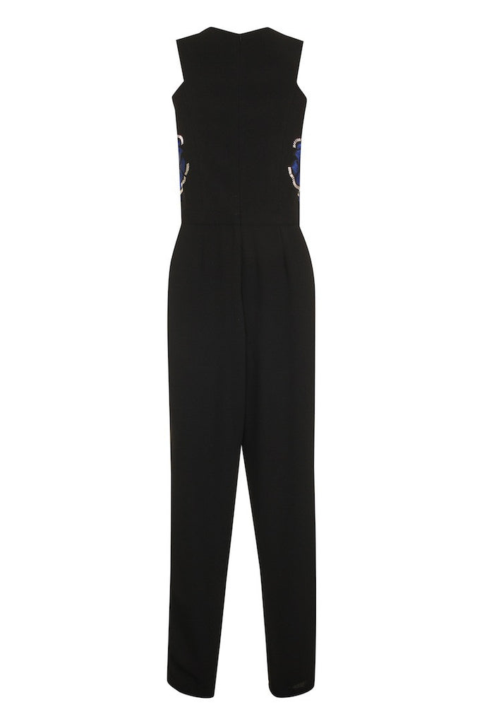 Black Crepe Jumpsuit TRS02