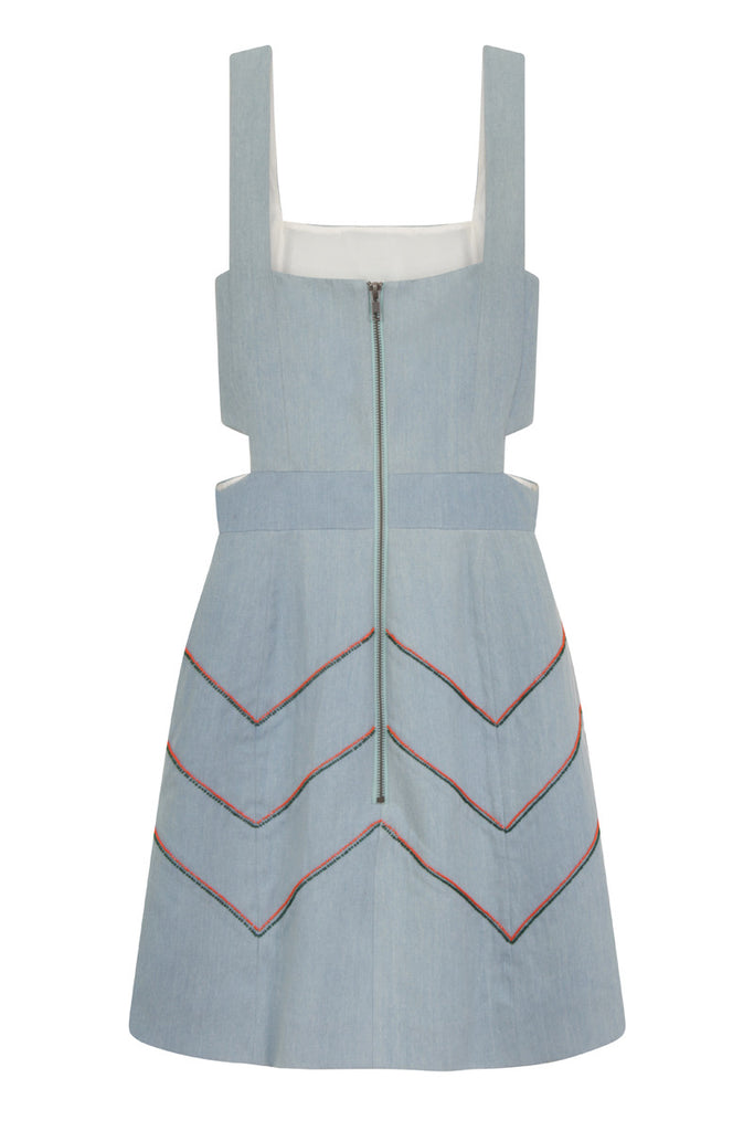 Dungaree Denim Dress DRS85