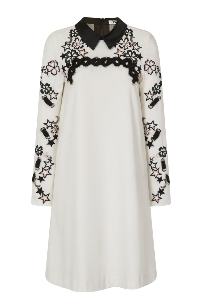 Tunic Dress With Lacing Detail and Embellishment DRS98