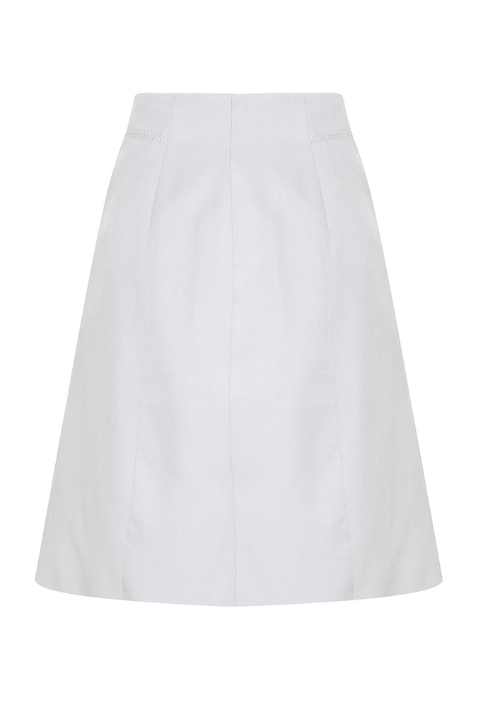 Hand Cross Stitch Zip Front Midi Skirt SKT36