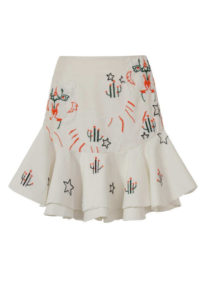 Beaded Tiger Frill Skirt SKT49