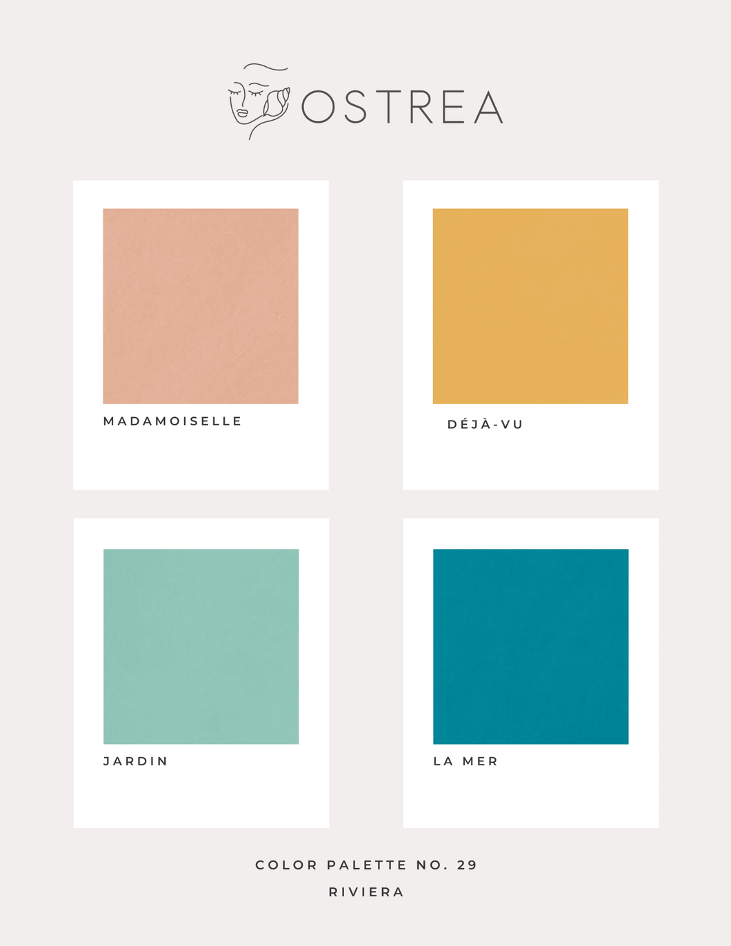 Color Palette No. 29: Riviera - Ostrea