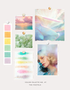 Translucent Clay & Alcohol Ink Color Palette No. 27: The Pastels - Ostrea