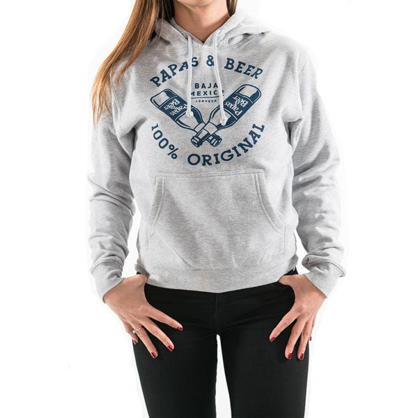 Cerveza Women's Pullover Hoodie - Athletic Grey
