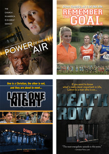 Power Of The Air, Remember The Goal, Late One Night, & Death Row - DVD - 4 Pack