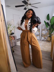 High Waist pleated pants pre order ships 3/5-3/20