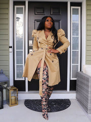 Perfection puff sleeve Trench Pre order ships by 3/15-3/31
