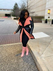 "SM Private Label "" Made you Blush "" Faux Leather Coat Pre order ships 3/20-4/8"