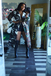 "HDM Spring Runway 2020 "" All in the Mix "" Camo trench pre order ships 10/26"
