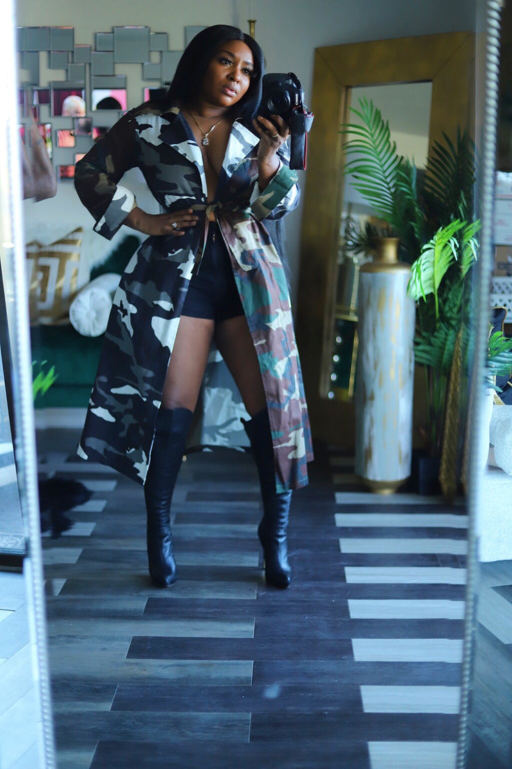 "HDM Spring Runway 2020 "" All in the Mix "" Camo trench"