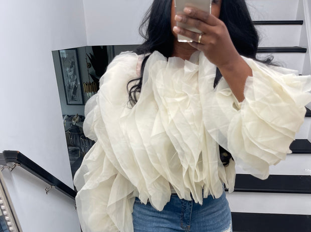 "SM Private Label "" La Boujie "" organza top Pre order ships 6/10"