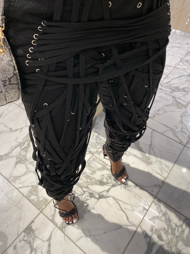 Keep Me Laced Pants (Pre-order) ships by 3/20-4/10