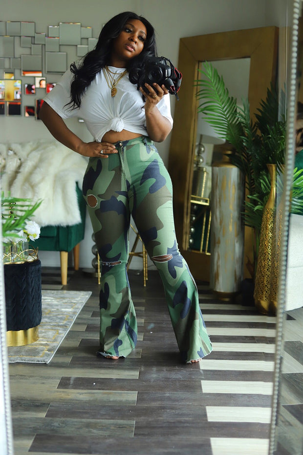 Camo Flaunt Wide Leg Pants - HDM Spring Runway 2020 (Pre-Order) 3/15-3/31
