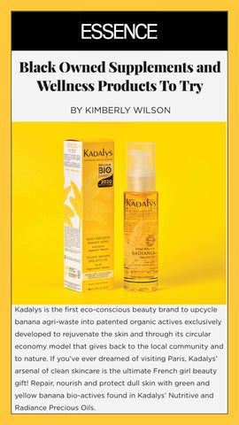 """Essence highlight Kadalys as a a Black owned brand that is """"worth the money and support."""""""