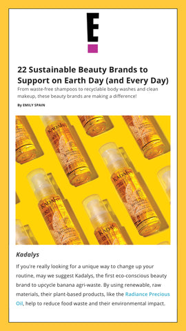 Kadalys is featured as a Sustainable Beauty Brand to Support on Earth Day (and Every Day)