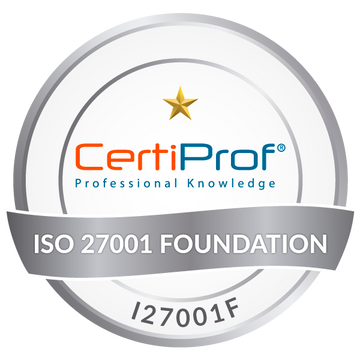 Certified ISO/IEC 27001 Foundation (I27001F)