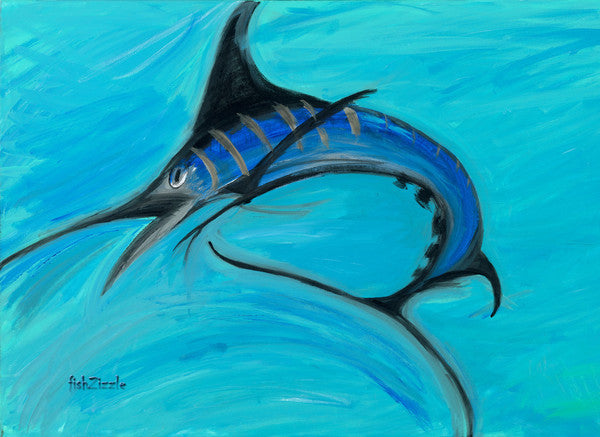 Blue Marlin Fish Art Print - FishZizzle