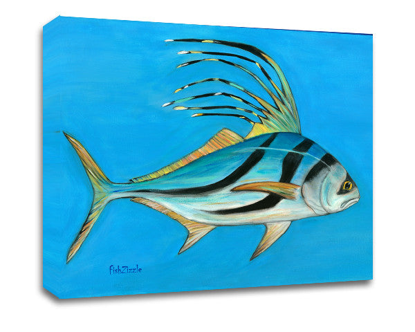 Rooster Fish Canvas Art - FishZizzle