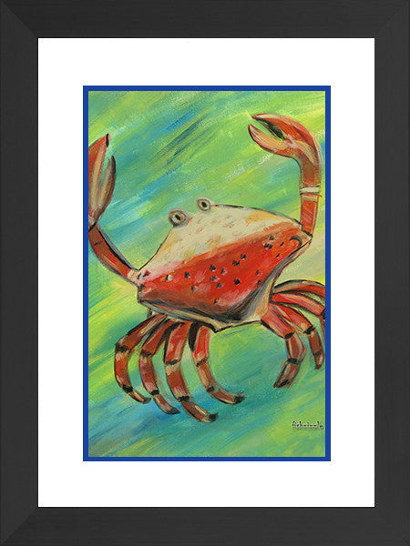 Crab Art Framed - FishZizzle