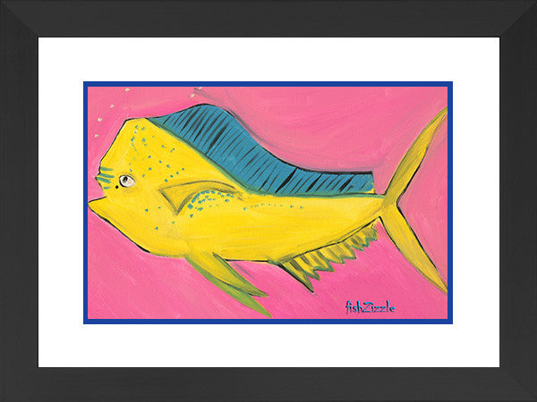 Mahi Mahi Fish Art Framed - FishZizzle