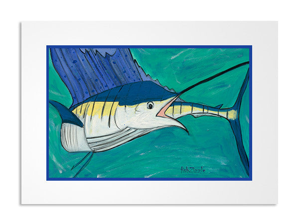 Marlin Fish Art Print - FishZizzle