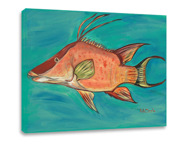 Hog Fish Canvas Art - FishZizzle