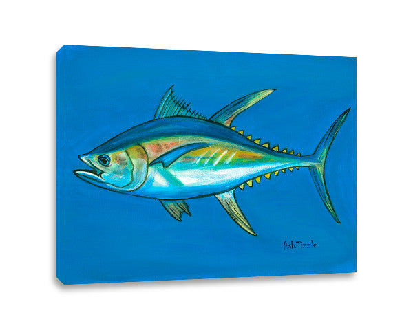 Tuna Fish Canvas Art - FishZizzle